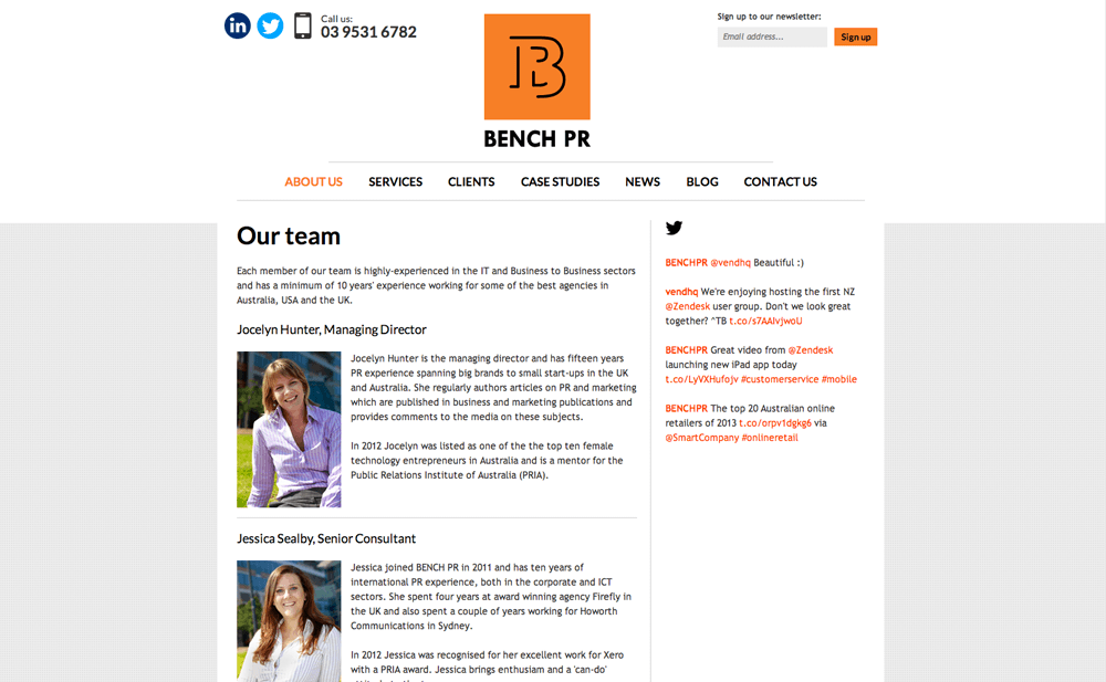 The Bench PR team