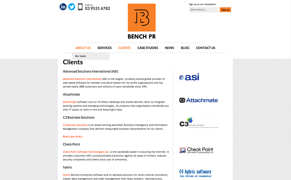 Bench PR clients