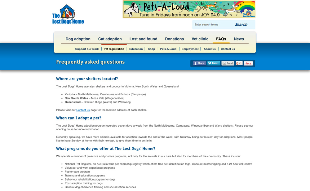 The Lost Dogs' Home FAQs