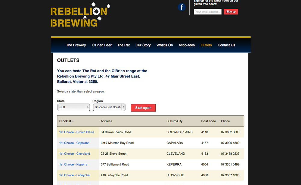 Rebellion Brewing local outlet finder