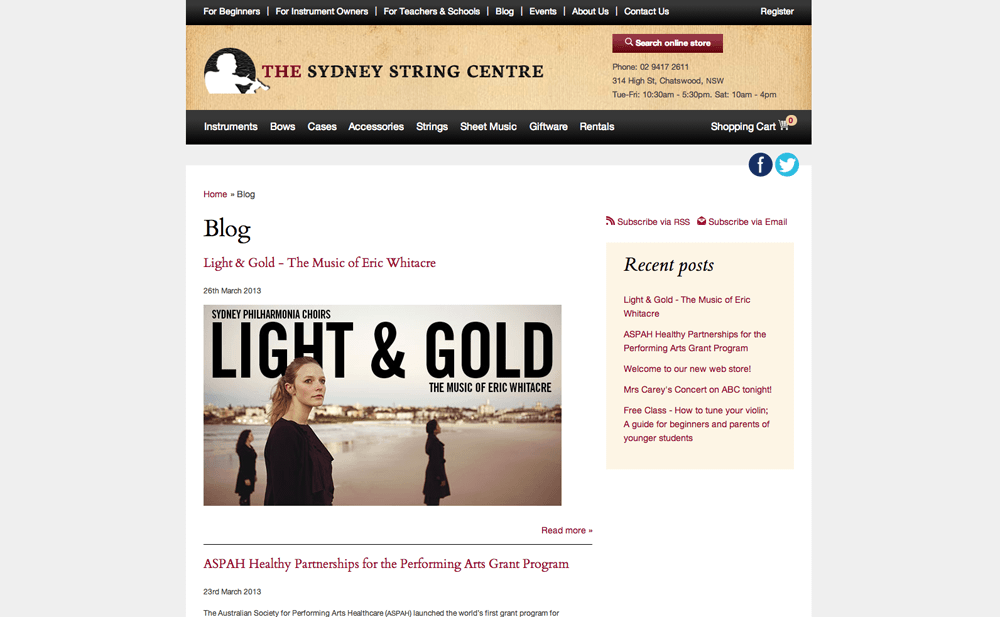 Sydney Strings Centre Blog