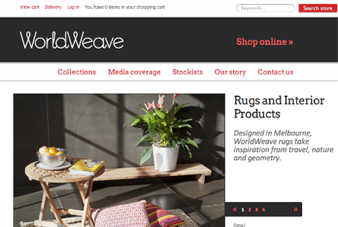 world weave website image